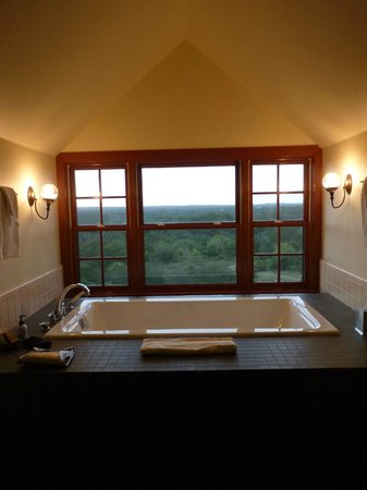 Sage Hill Inn Above Onion Creek: Nance Suite......Tub with a view....