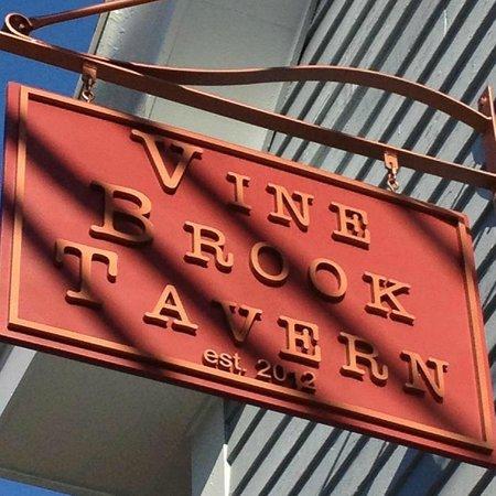 Vine Brook Tavern : Our lovely sign! Come visit soon!