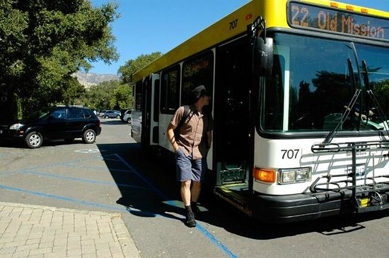 Local Santa Barbara MTD bus offers drop off and pick up at ... on