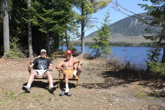 Spencer Pond Camps: Love those Adirondack chairs!