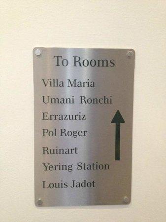 Hotel du Vin Cambridge: Room Names
