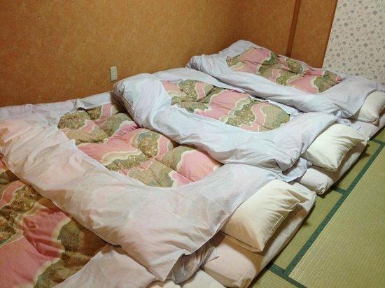 Mombetsu Prince Hotel : Futon beds