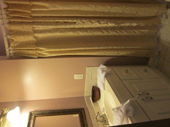 Agustin Inn: Toilet has a curtain