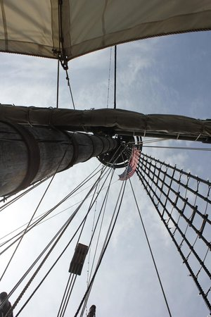 The Santa Maria Columbus: Another shot of the Crow's Nest, 65 feet up there!