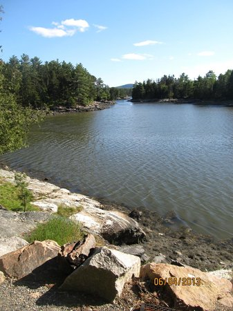 Mount Desert Campground: viwe from B4 campsite