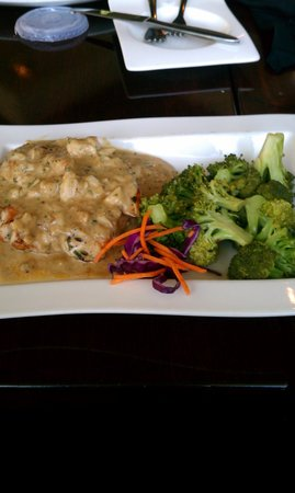 Greystone Grill - Ellicott City: chicken topped with crab and sauce