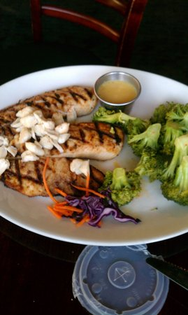 Greystone Grill - Ellicott City: fish topped with crab