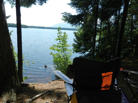 Cathedral Pines Campground: Vue sur le lac