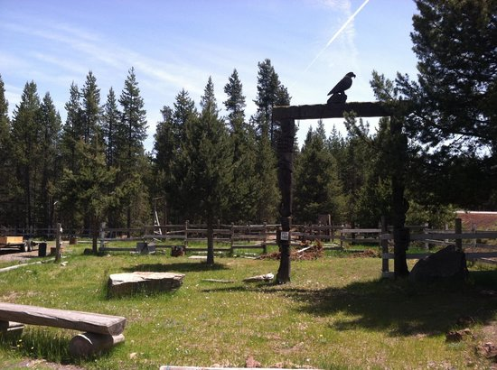 Eagle Crater Lake Inn: Totem and Horse Corral