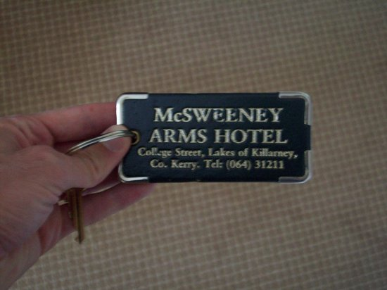 McSweeney Arms Hotel: It'd be hard to lose this key fob.