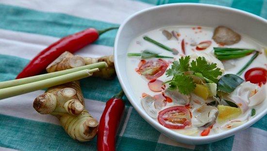 Baba Soul Food: Tom Kha Hoi Shell at Baba Sould Food Top Thai Restaurants in Phuket Thailand
