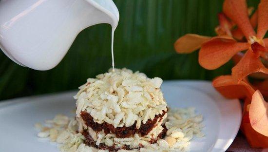 Baba Soul Food : Crispy Khao Mao Caramel Coconut warm at Baba Sould Food Top Thai Restaurants in Phuket Thailand