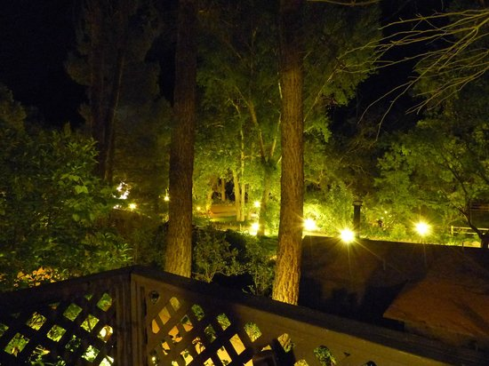 Briar Patch Inn : View at night from Eagle deck