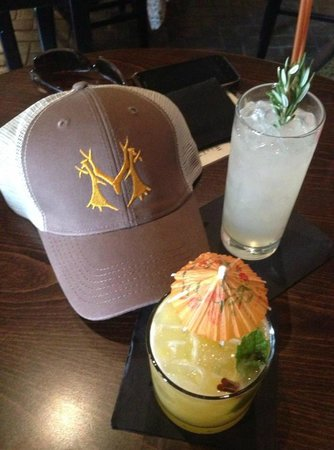 Montgomery Distillery Logo and drinks
