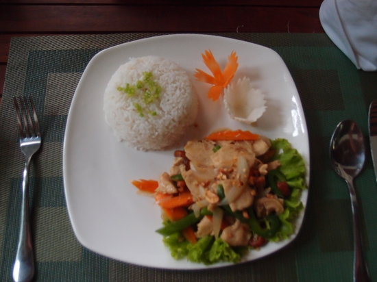 Landing Point Villa: One of the many delicious local food at the restaurant