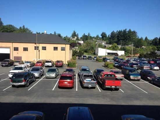 The Mill Casino Hotel: beautiful parking lot view
