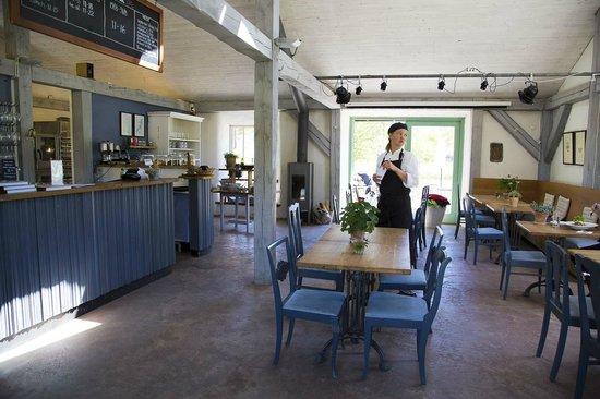 Zachodnie Wybrzeże Szwecji, Szwecja: Restaurant and bar - a cool and welcome retreat from the midday Swedish sun.