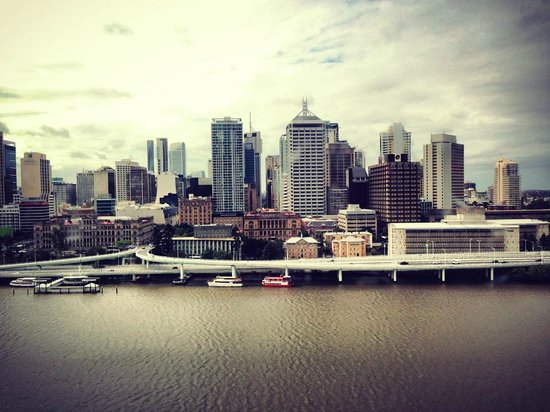 JPT Tour Group: View of  Brisbane from the WHEEL.