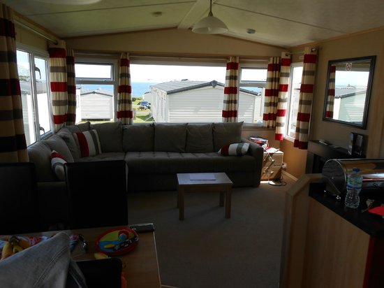 Otterton, UK: Lounge area of caravan