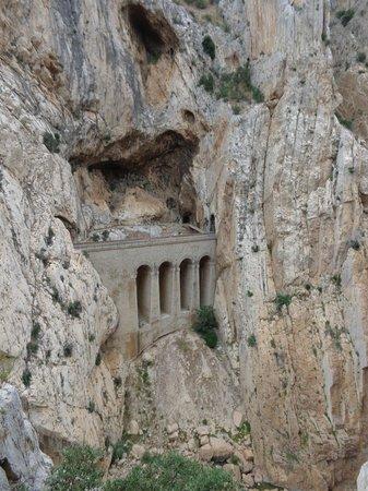 El Caminito del Rey: View from the path.