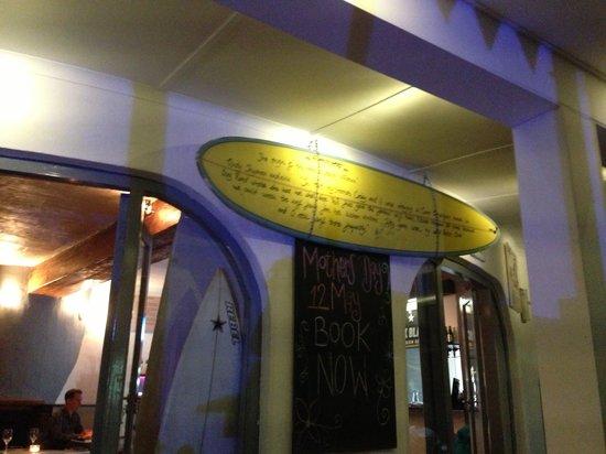 Kitchen Windows Beach Restaurant: Kitchen Windows surf decor :)