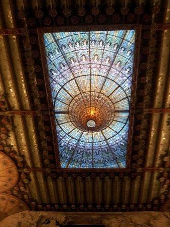 Palais de la Musique Catalane (Palau de la Musica Catalana) : Palau de la Musica ceiling