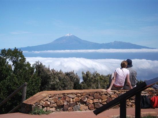 Lifford, Irland: El Teide viewed from Alta de Garajonay on La Gomera