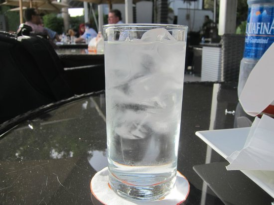 Grand Cafe: served ice cold water in a hot summer