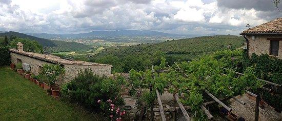 Il Borghetto di Bazzano : 180 Grad Blick von der oberen Terrasse aus