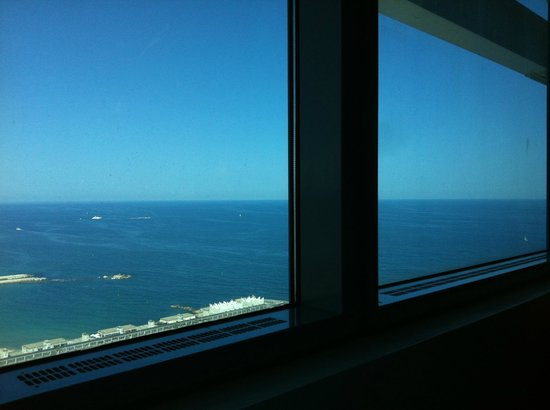Hotel Arts Barcelona: View from the room in 38th floor