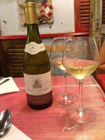 A la Peche aux Moules: Вино