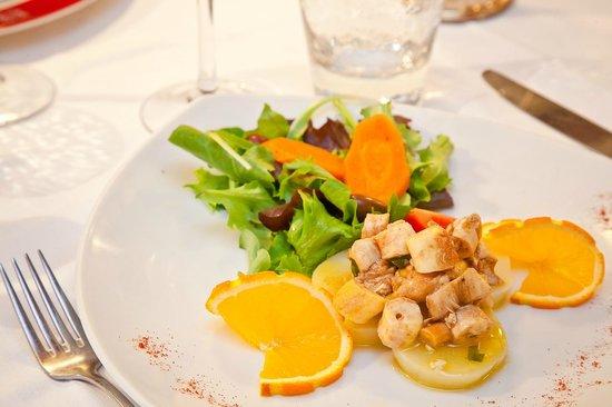 Assiette: Salade de poulpe