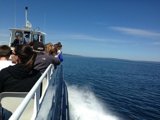 Shepler's Mackinac Island Ferry: A beautiful day for a ride on the top deck!