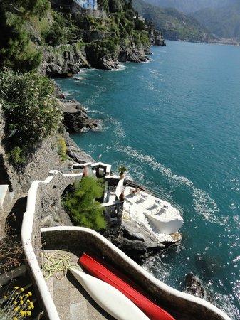 Villa San Michele: Zugang zum Meer vom Hotel aus
