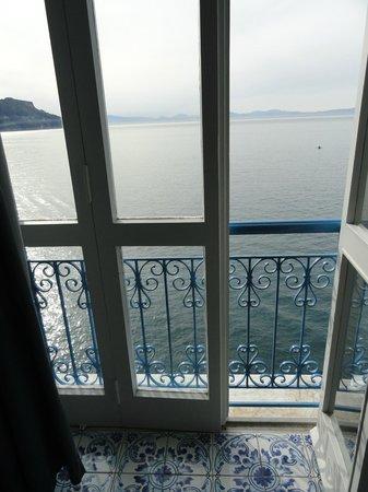 Villa San Michele: Blick aus dem Zimmer direkt aufs Meer