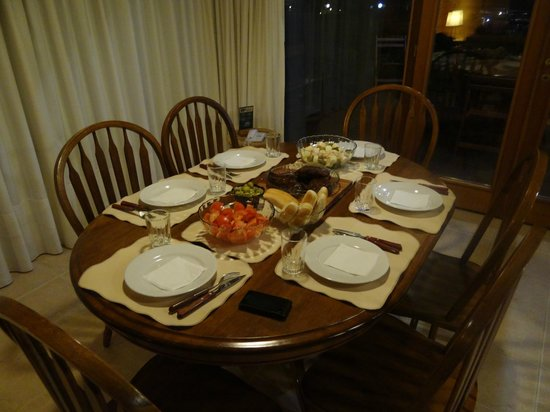 Il Belvedere: Um jantar preparado na cabana