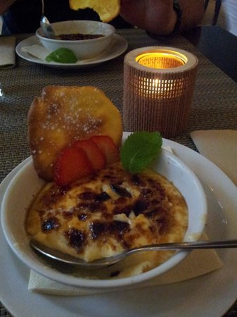 Lola Tapas Restaurante: Crema catalana con tejas de naranja