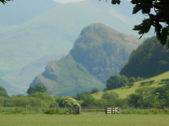 """Tyn-Yr-Eithin Bed and Breakfast: View from the back garden of the """"Ladies Face"""""""