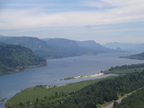 Columbia River Gorge National Scenic Area: the view from Crown Point