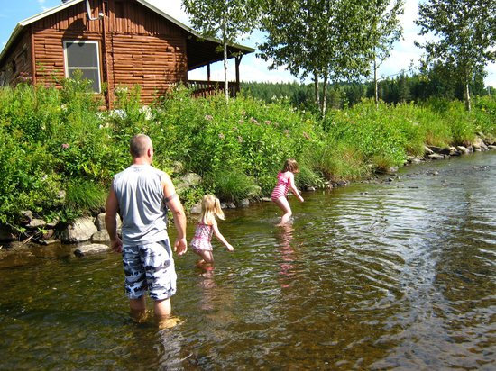Cabins at Lopstick: Brook/stream behind cabin
