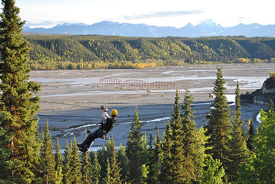 McCarthy, AK: Overlooking the Nizina River