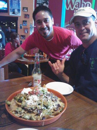 Cabo Wabo Cantina : Hubby & Andre w/Nacho platter