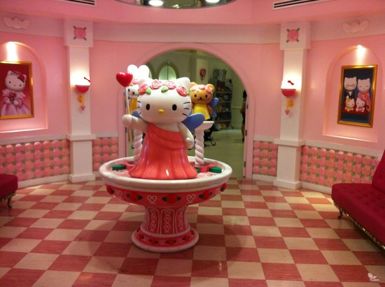 hello kitty house picture of sanrio hello kitty town. Black Bedroom Furniture Sets. Home Design Ideas