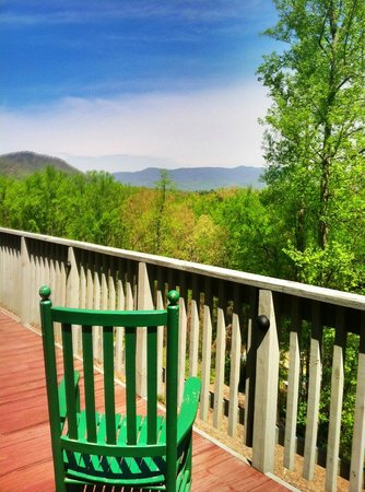 Mountain Perks Too: The View: What a great place to enjoy coffee and food!