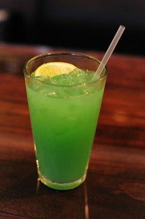 The Green Dragon Malibu And Bacardi Rum Pineapple Juice