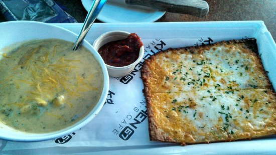 Kitchen 67: Broc Cheese Soup with Founders, and Flatbread with Merlot Marinara