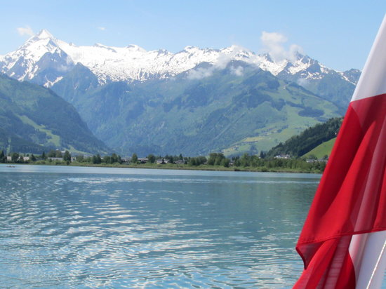 See Esplanade : View of Grossclokner from the boad on the Lake at Zell am See