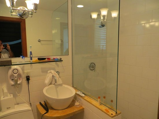 Cardozo Hotel: Shower and strange sink