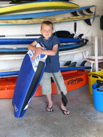 The Rocks Hotel: Jacob with his chosen board