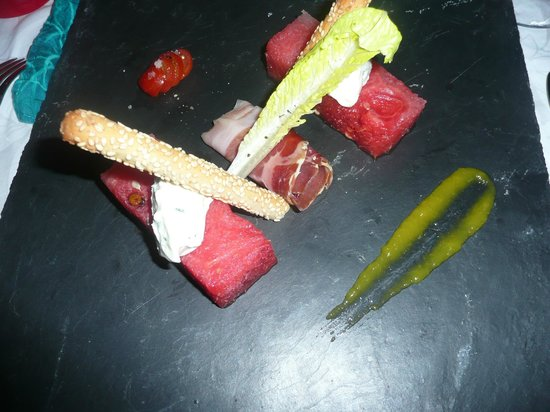 Vahine Island Resort & Spa : Watermelon Salad